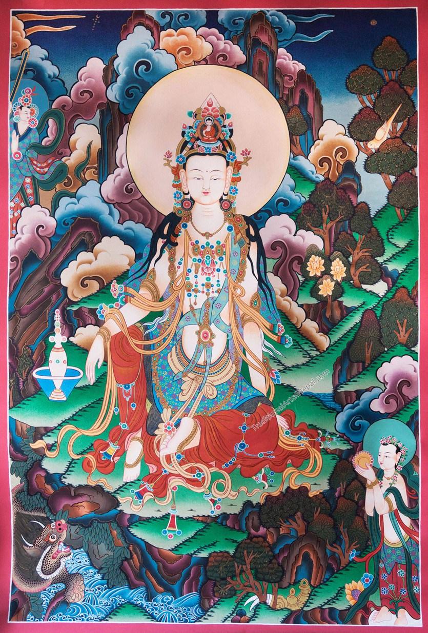 Quan Yin Thangka Style
